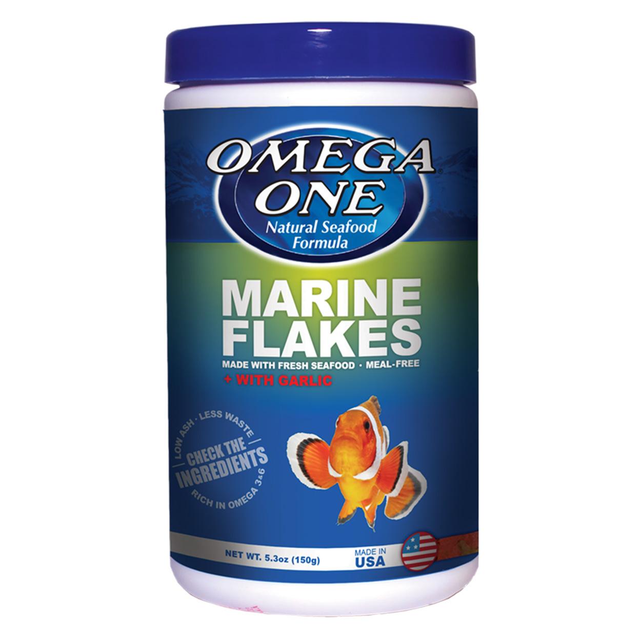 Omega One Marine Flakes with Garlic - 5.3 oz 10618
