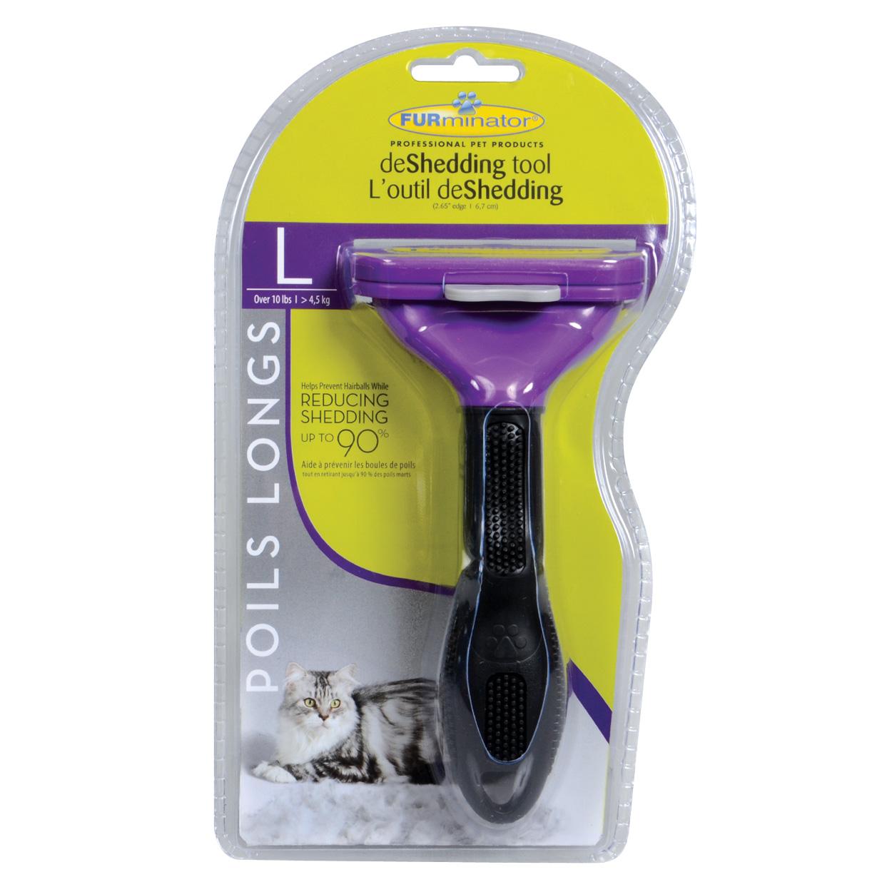 FURminator Long Hair deShedding Tool for Cats - L - 2.65 10730