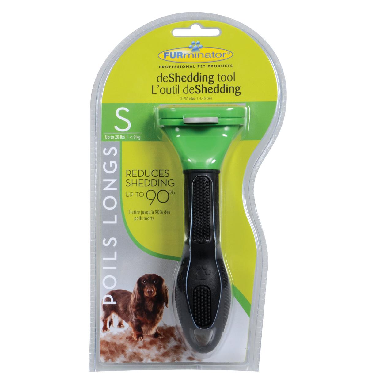 "FURminator Long Hair deShedding Tool for Dogs - S - 1.75"" 10748"