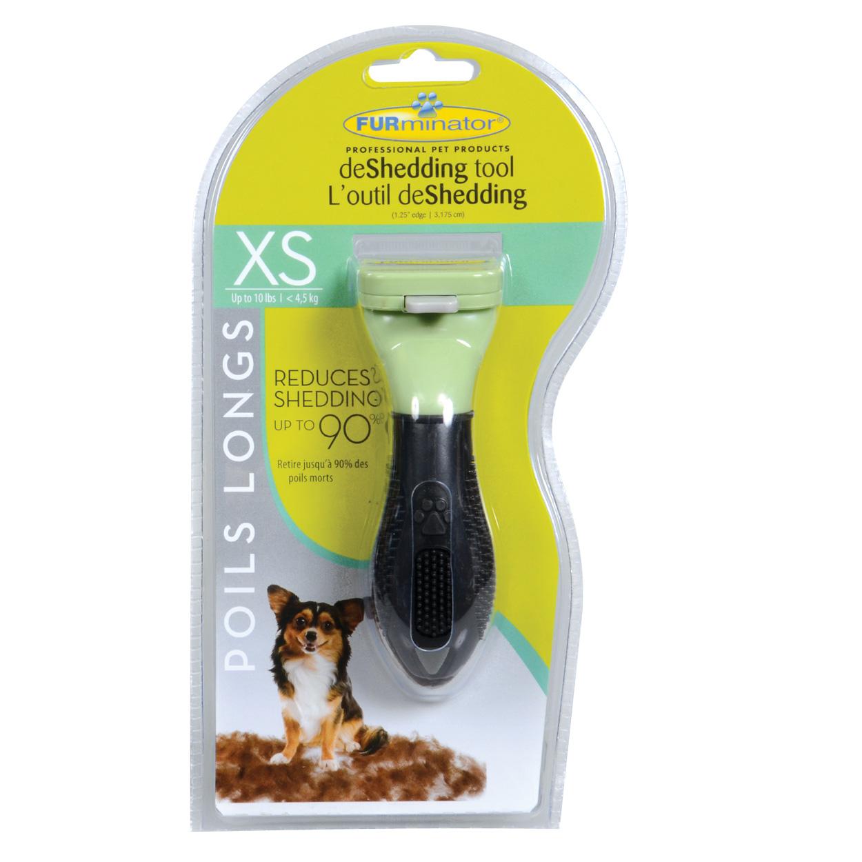 "FURminator Long Hair deShedding Tool for Dogs - XS - 1.25"" 10749"