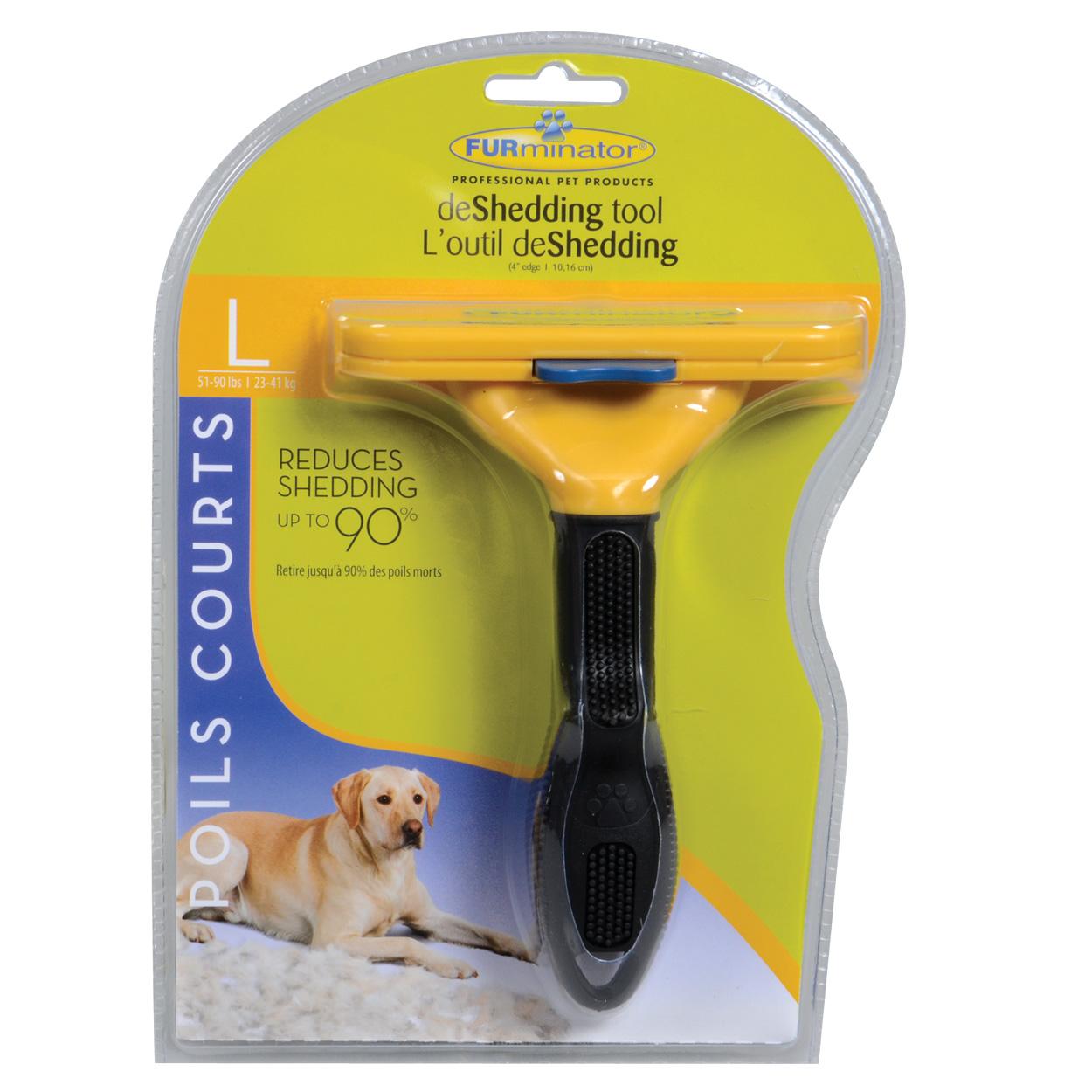 "FURminator Short Hair deShedding Tool for Dogs - L - 4"" 10753"