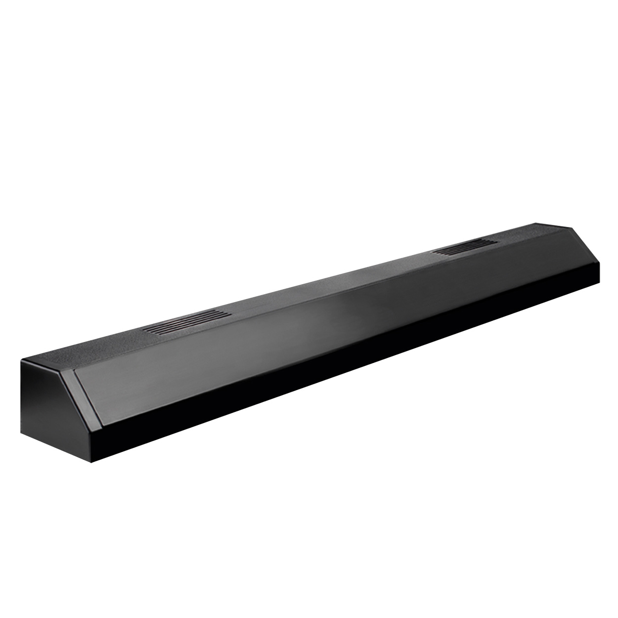 Aqueon Deluxe Single Fluorescent Strip Light - Black - 36 13160