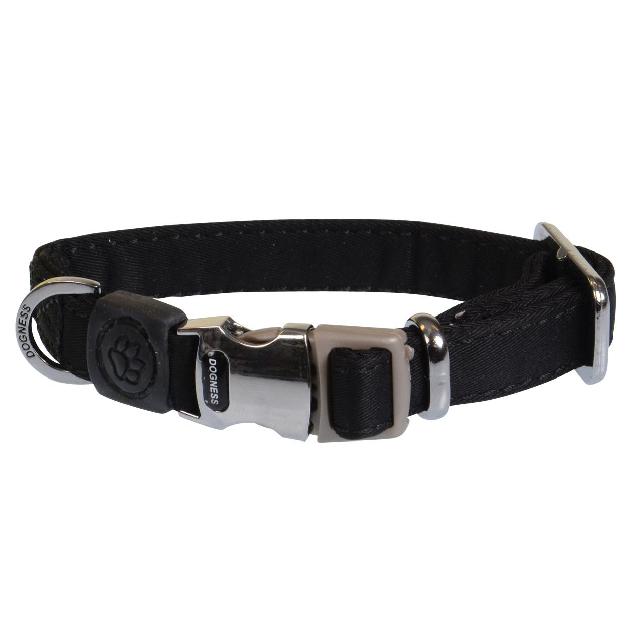 "Dogness Teflon Collar - Black - X-Small - 1/2"" (6"" to 10"" neck) 30911"
