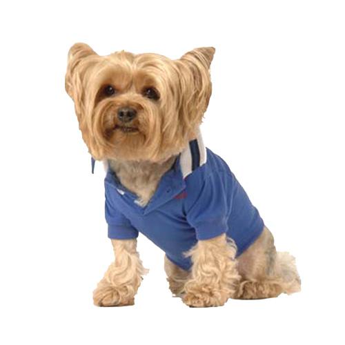 Max's Closet White Collared Polo Shirt - Royal Blue - X-Small 43158