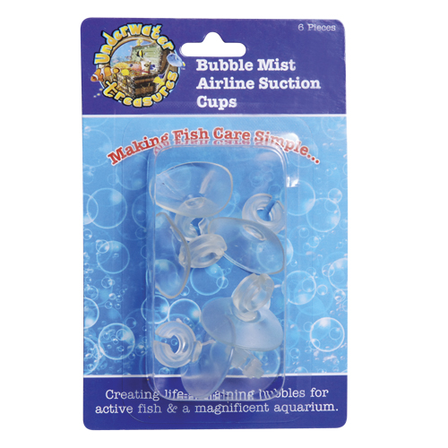 Underwater Treasures Bubble Mist Airline Suction Cups - 6 pk 53375