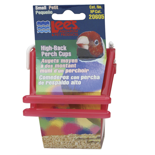 Lee's High-Back Perch Cup - Assorted - Small - 2 pk 53831