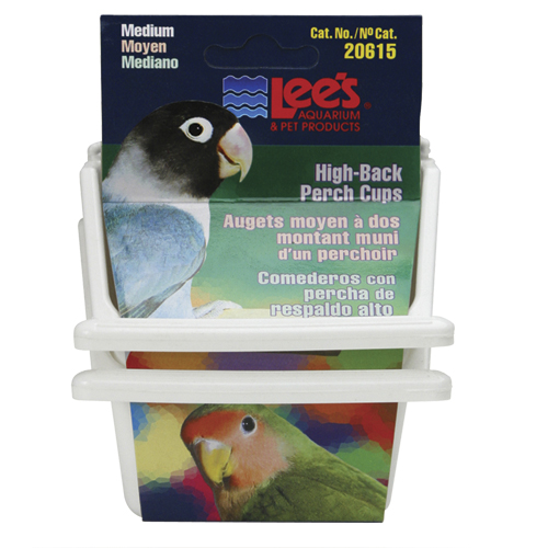 Lee's High-Back Perch Cup - Assorted - Medium - 2 pk 53833