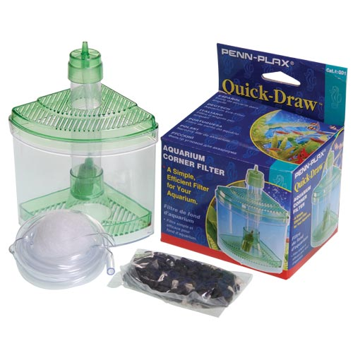 Penn Plax Quick-Draw Corner Aquarium Filter 6219