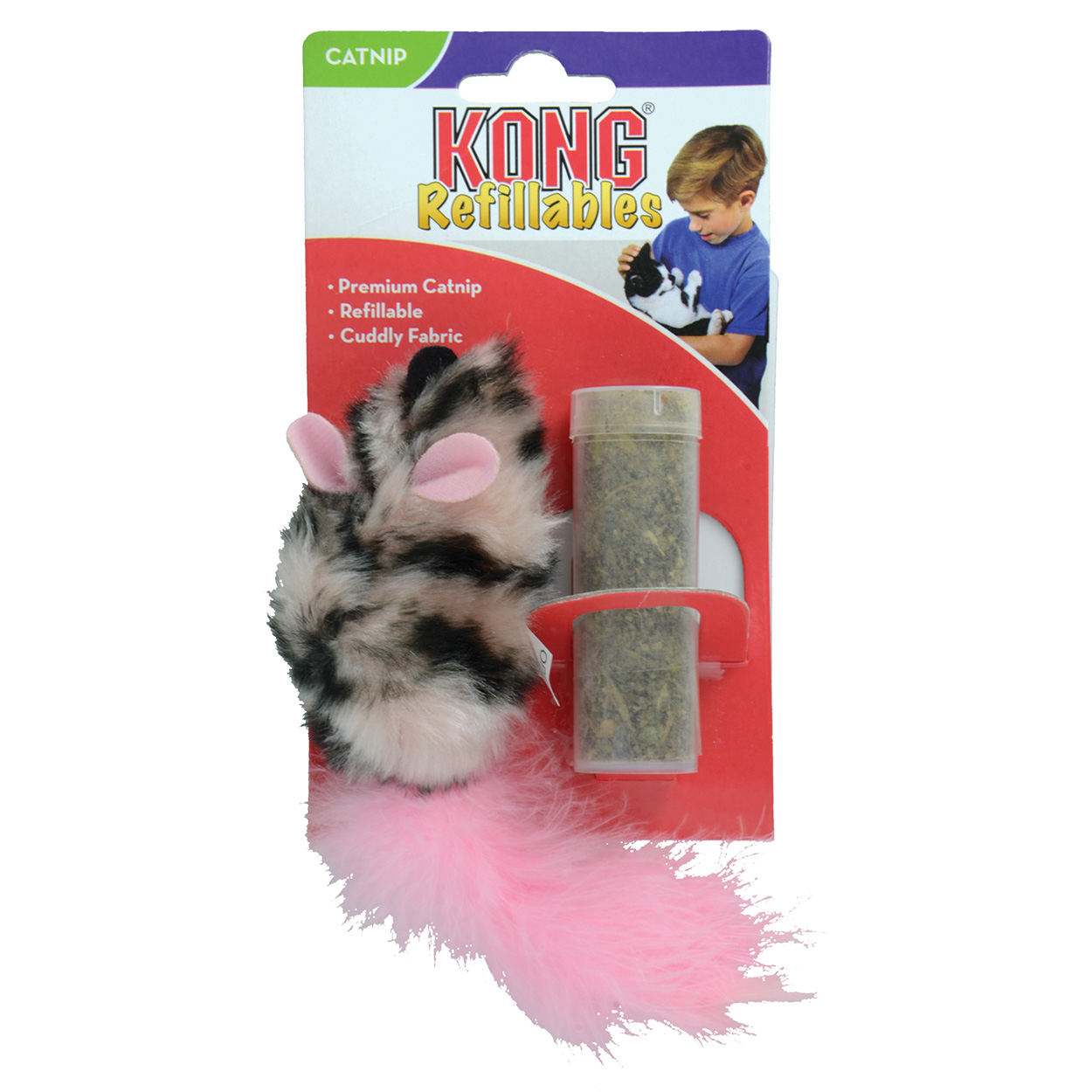 KONG Refillable Catnip Toy - Field Mouse 69575