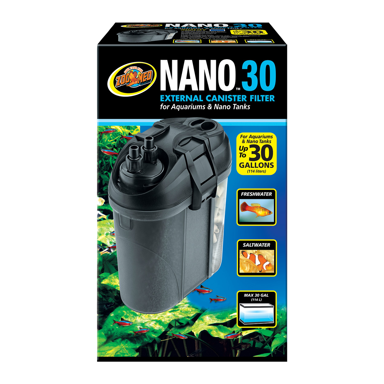 Zoo Med Nano External Canister Filter - 30 gal 78056