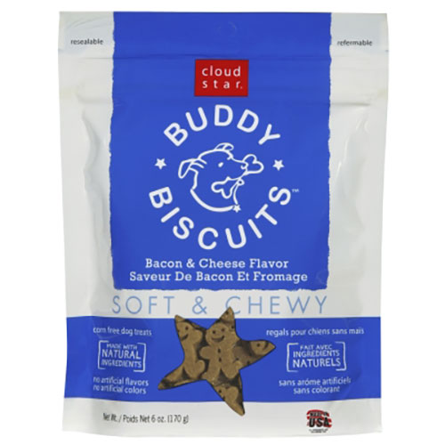 Cloud Star Buddy Biscuits Original Soft & Chewy Treats with Bacon & Cheese - 6 oz LSCW17200