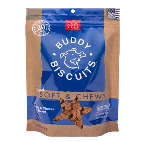 Cloud Star Buddy Biscuits Original Soft & Chewy Treats with Bacon & Cheese - 20 oz LSCW17202