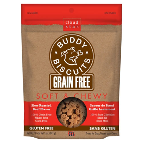 Cloud Star Grain Free Soft & Chewy Buddy Biscuits with Grilled Beef - 5 oz LSCW28210