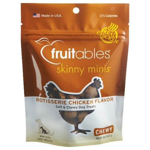 Vetscience Fruitables Skinny Minis Soft & Chewy Dog Treats - Rotisserie Chicken Flavor - 5 oz LSFB00246