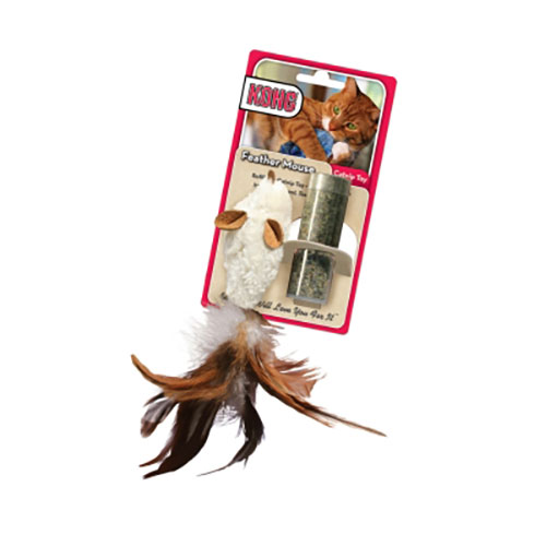 KONG Refillable Catnip Toy - Feather Mouse LSKC03093