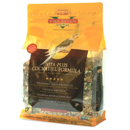 Vitakraft Sunseed Vita Plus Sunscription - Cockatiel Formula - 3 lb LSSN49030